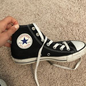 Black high top converse!